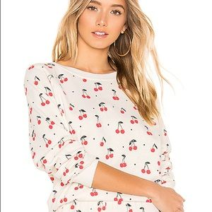 Wildfox Cherry Print Sweatshirt